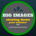 Graphic with text overlay - Big Images slowing down your website??