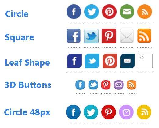 Screenshot of Top 25 Social Icons plugin theme options